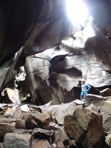 The Grottos (also known as the Ice Caves) east of Aspen).