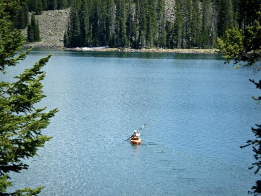 Lake kayaking at 10,000 feet on the Grand Mesa.