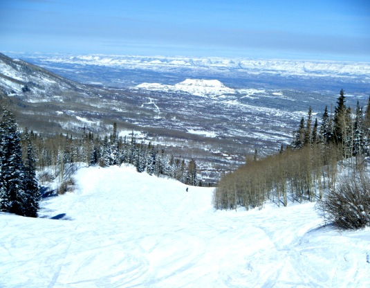 The Grand Valley from Powderhorn Ski Area on the Grand Mesa.