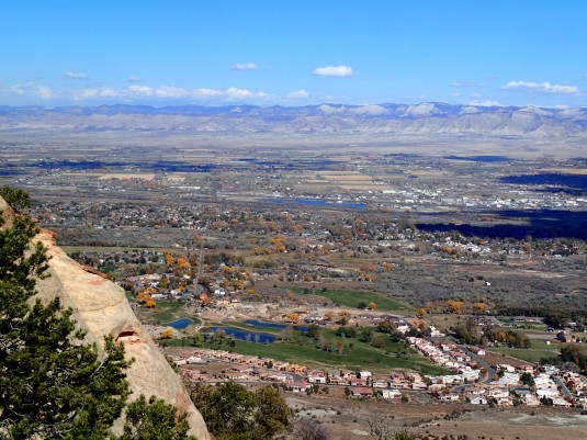 This view of the Grand Valley was taken from the incredibly grand Colorado National Monument.