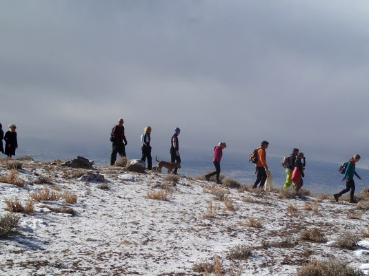 The pilgrimage to the summit.